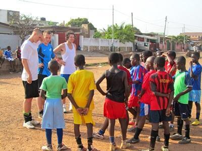 Jongerenreis sport project in Ghana