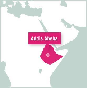 Kaart van Ethiopië