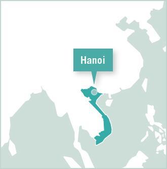 Kaart van Vietnam