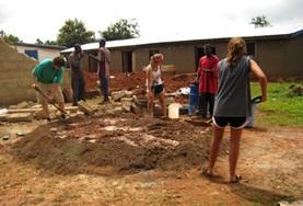 Vrijwilligerswerk in Ghana: Bouwen