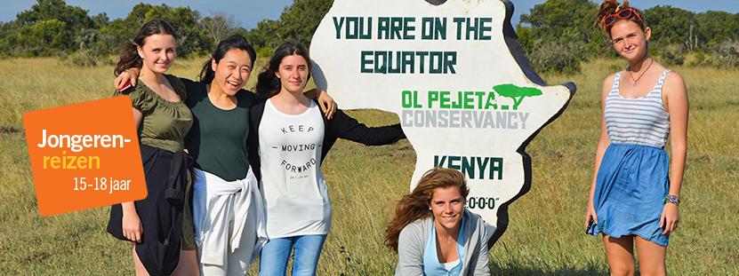 Vrijwilligers op een van de jongerenreizen in het buitenland