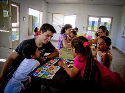 Lesgeven op een school in Argentinië