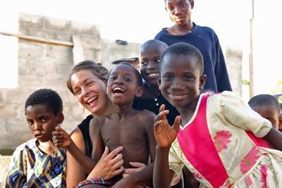 Vrijwilligerswerk computervaardigheden project in Ghana