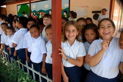 Lesgeven op een school in Costa Rica