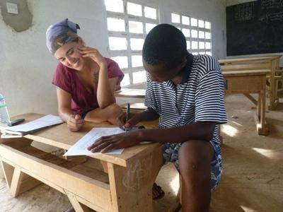 Vrijwilligerswerk lesgeef project in Togo