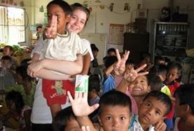 Sociaal vrijwilligerswerk met kinderen in het buitenland: Cambodja