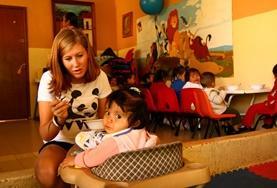 Op een sociaal project in Mexico kun je bijvoorbeeld werken met kinderen in een dagopvangcentrum.