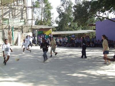 Vrijwilligerswerk sport project in Ethiopië